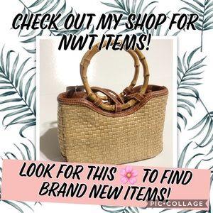 🌸 NWT NEW Straw Handbag Crossbody Bag